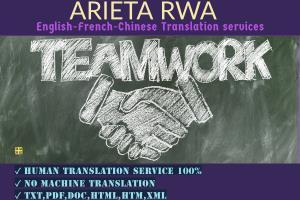 Portfolio for English-French Translation service